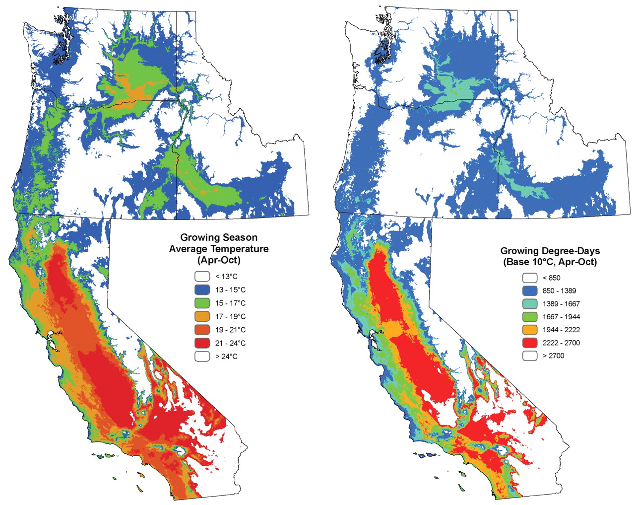 Spatial Analysis Of Climate In Winegrape Growing Regions In The - Us map winklervclimate regions